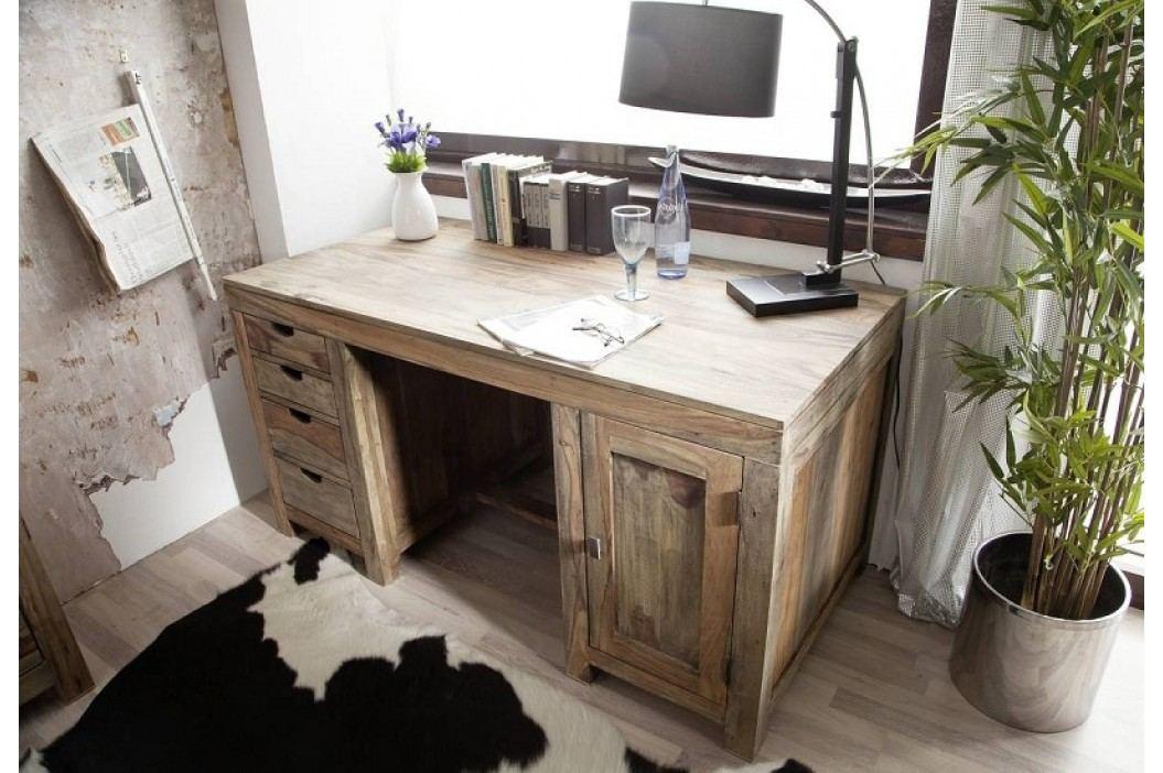 Sheehsam psací stůl, masivní palisandrové dřevo GREY WOOD #70