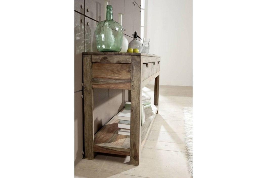 Sheesham příruční stolek, masivní palisandr GREY WOOD #90