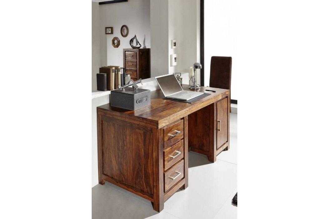 Sheesham psací stůl, masivní palisandrové dřevo DAKOTA #119