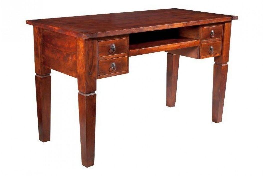 Koloniální psací stůl, masivní akátové dřevo CAMBRIDGE #506