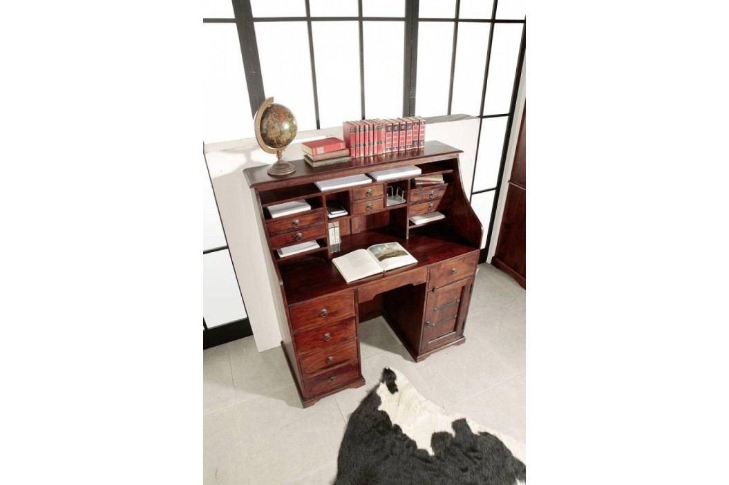 Koloniální psací stůl, masivní akátový nábytek CAMBRIDGE #516