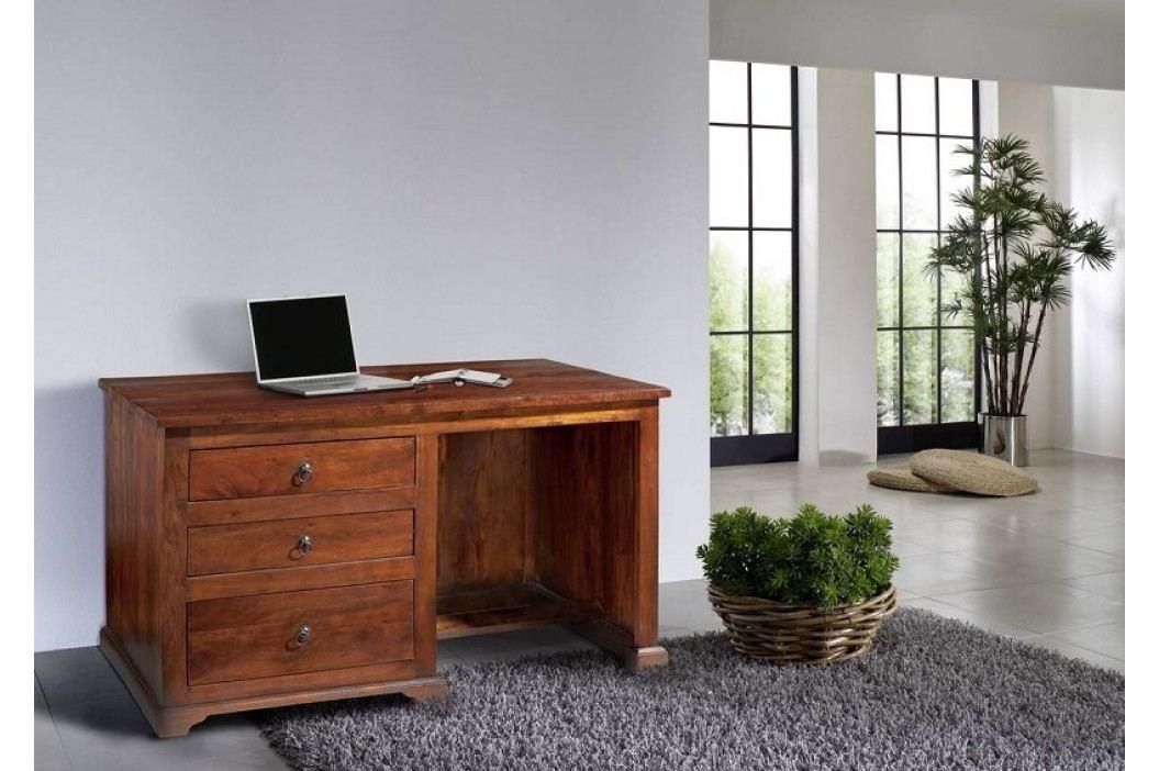 Koloniální psací stůl, masivní akátové dřevo CAMBRIDGE #512