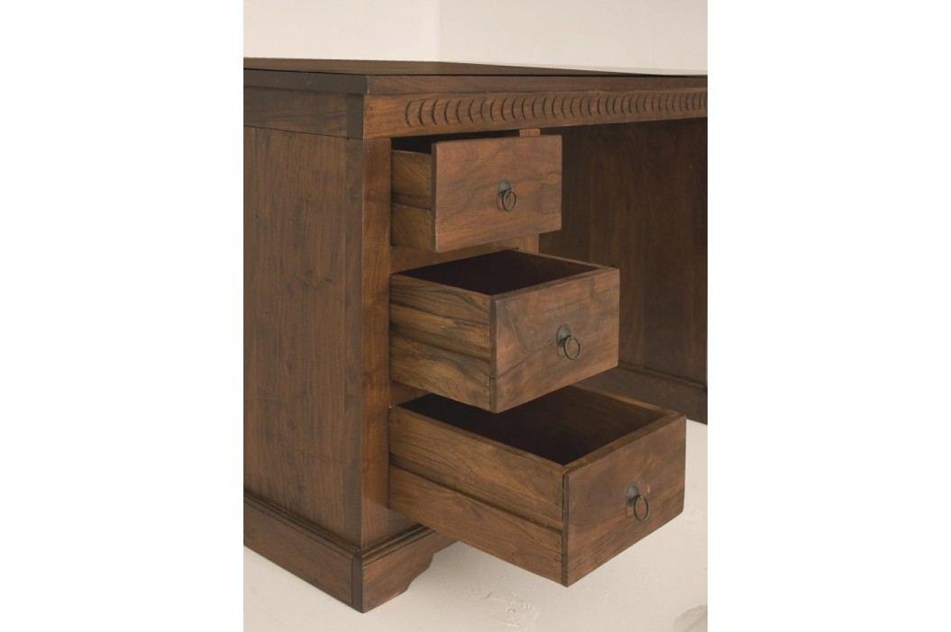 Koloniální psací stůl, masivní akátové dřevo CAMBRIDGE #420