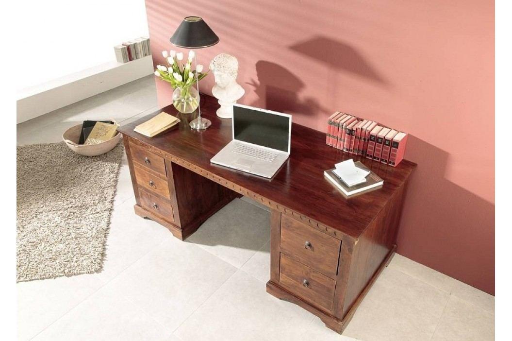 Koloniální psací stůl, masivní akátový nábytek CAMBRIDGE #529