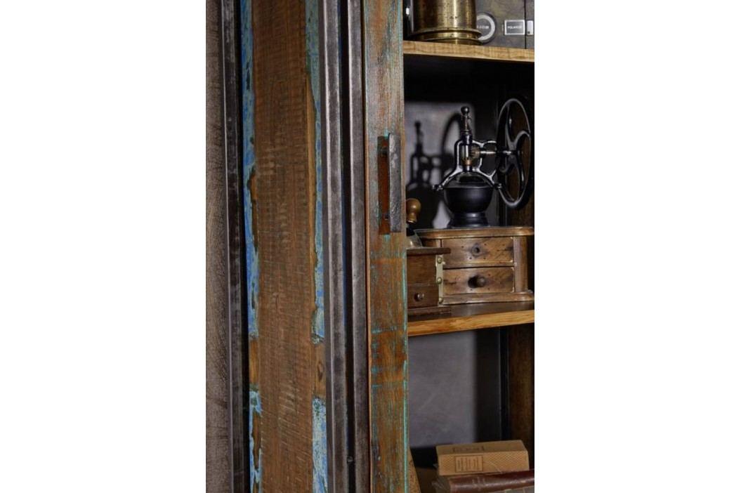 PORTO vitrína staré lakované indické dřevo/kov