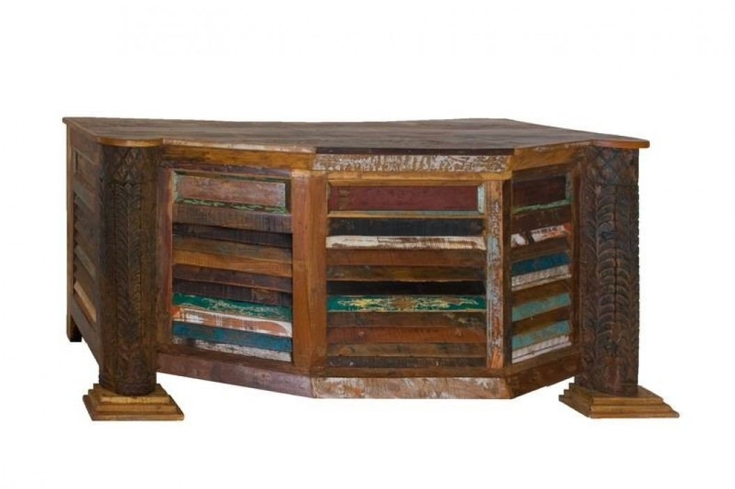 OLDTIME psací stůl lakované staré indické dřevo