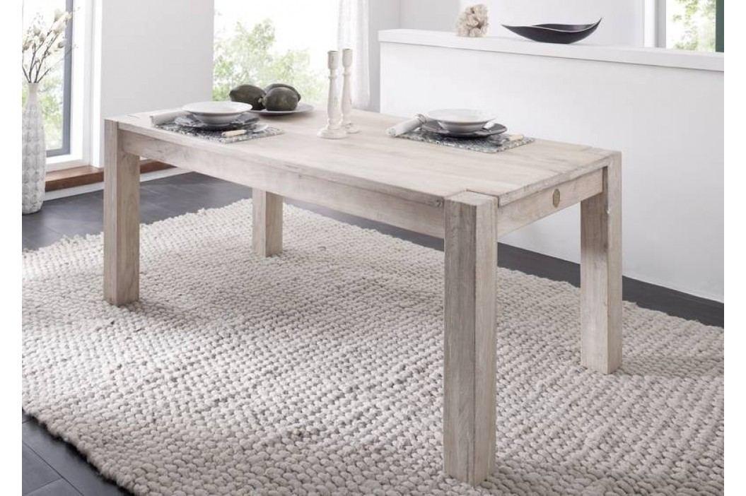 WHITE WOOD 90x90 cm jídelní stůl malovaný agávový nábytek