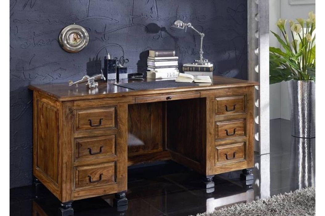 KOLONIAL psací stůl lakovaný palisandr