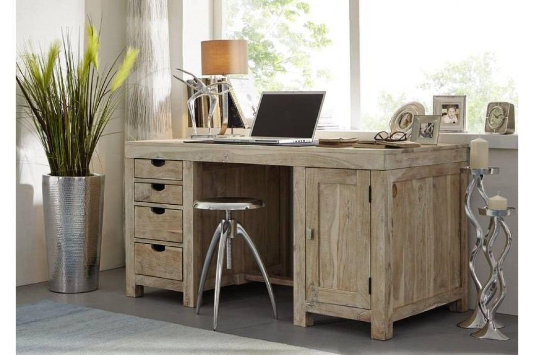 WHITE WOOD psací stůl malovaný akátový nábytek