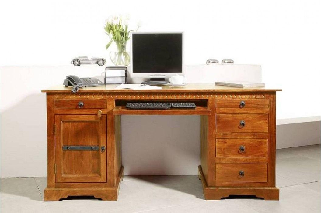 CAMBRIDGE HONEY psací stůl # 0522 masivní akát, medová