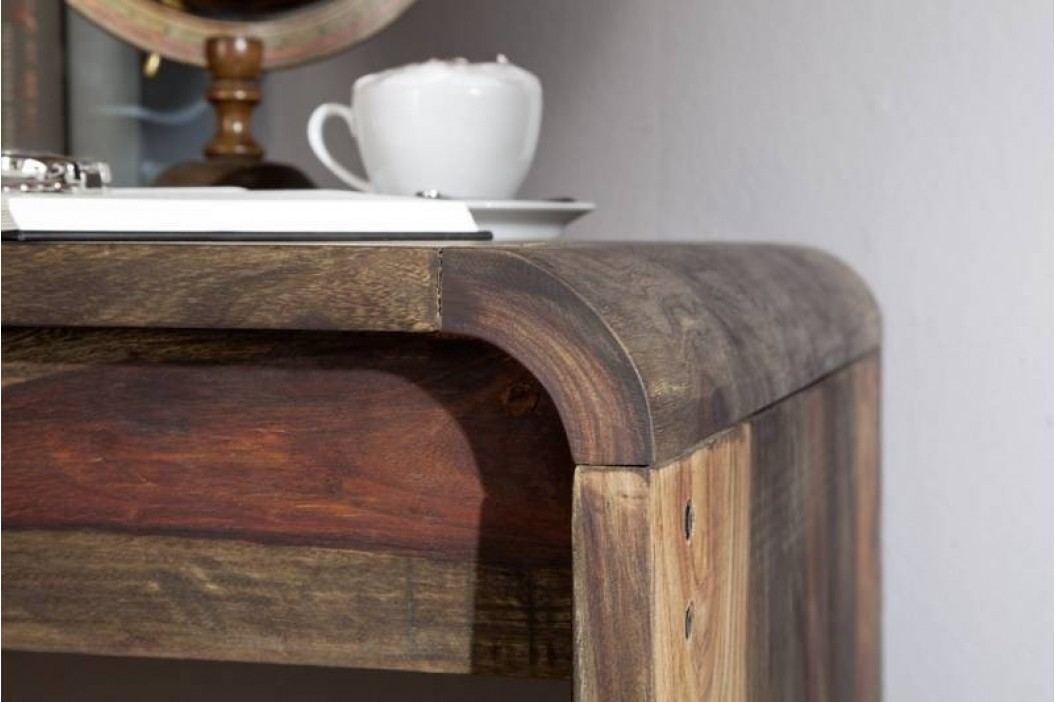 PLAIN SHEESHAM psací stůl # 782 olejovaný indický palisandr, šedá