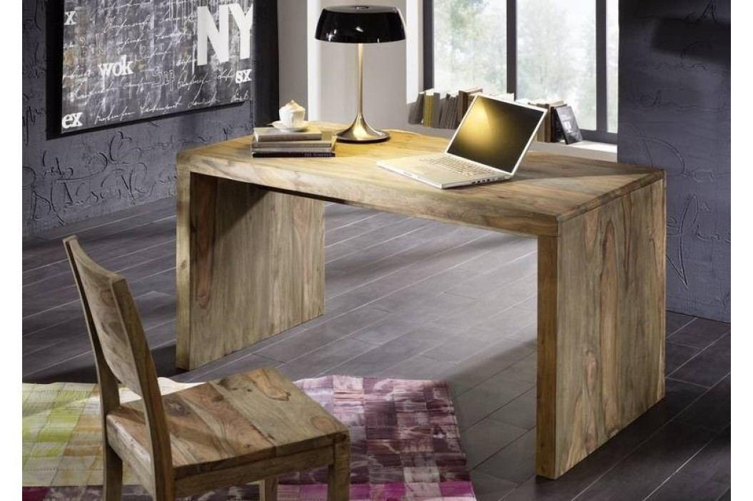 Sheesham psací stůl, masivní palisandr GREY WOOD #710