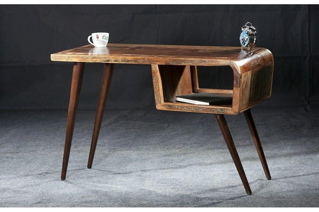 RETRO psací stůl staré lakované dřevo
