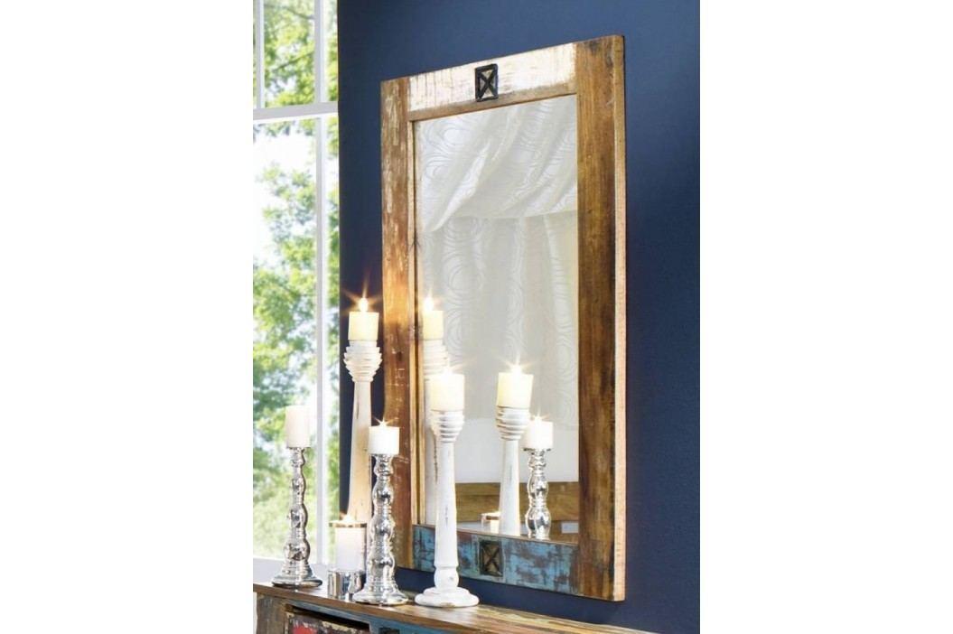 OLDTIME zrcadlo - 120x80cm lakované staré indické dřevo