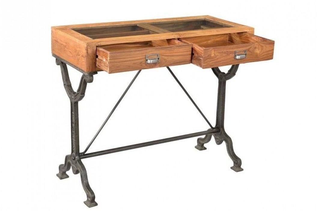 1920s SPECIAL Psací stůl se sklem # 114 teak, litina