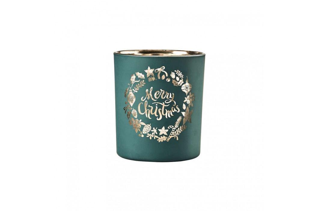 DELIGHT Svícen na čajovou svíčku X-MAS 10 cm - zelená