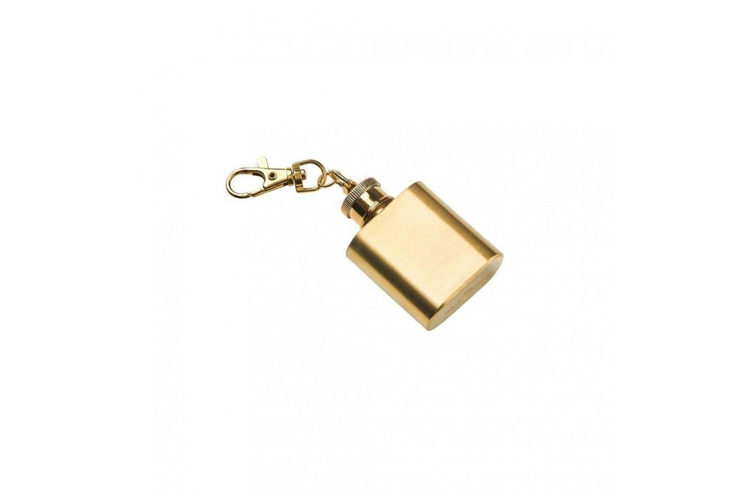 MINI FLASK Přívěšek na klíče placatka - zlatá