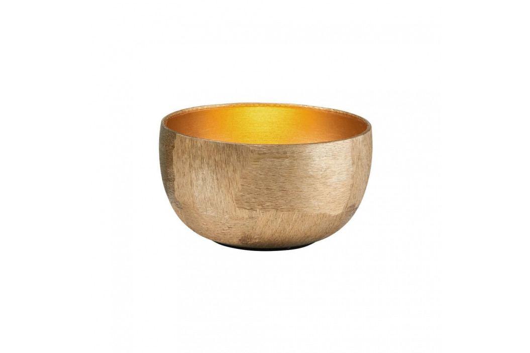 GOLDEN STAR Svícen na čajovou svíčku oválný 9 cm