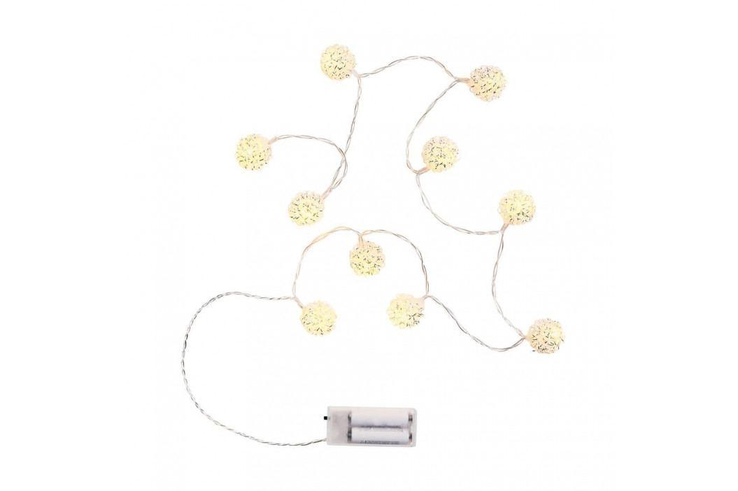 POMPOM LIGHTS Světelný řetěz drátěné koule 10 světel obrázek inspirace