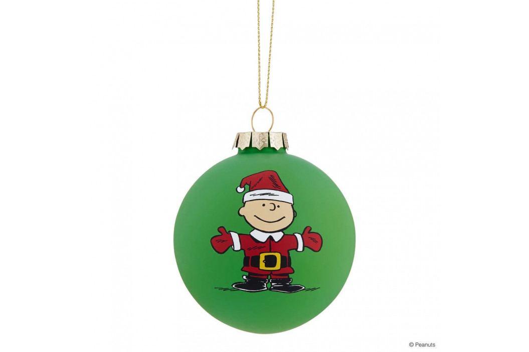 PEANUTS Vánoční koule Charlie Brown - zelená