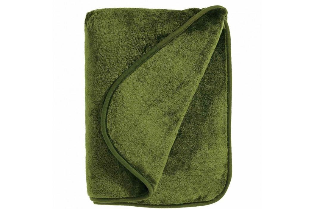 HUGS & KISSES flísová deka - zelená