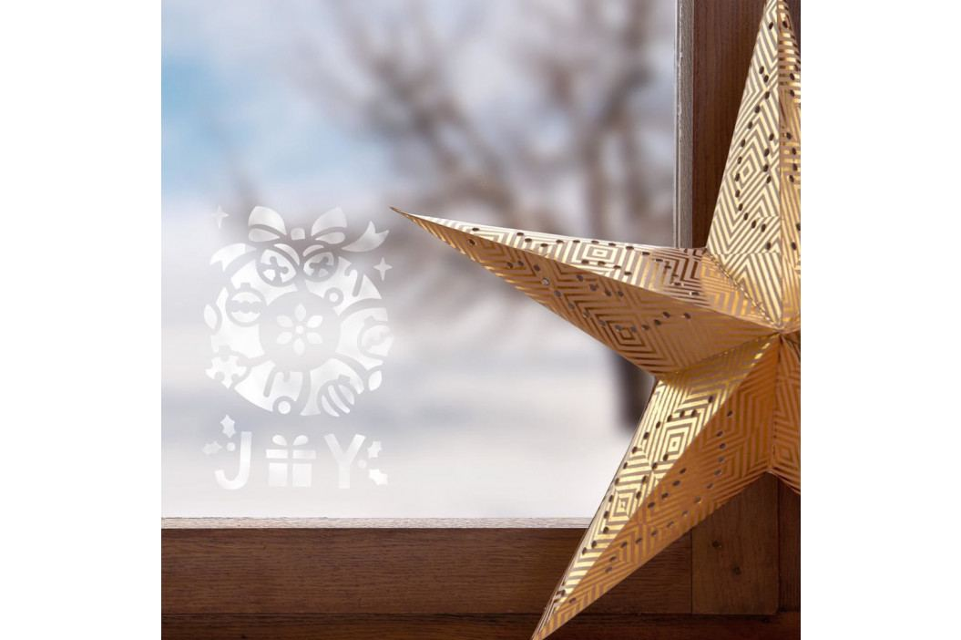 X-MAS Šablony na okno věnec a Santa, 2 ks