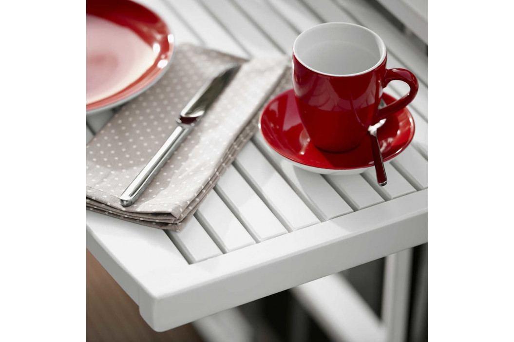 LODGE Balkonový skládací stůl - bílý