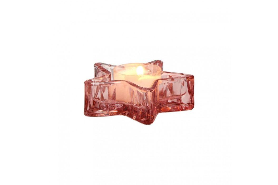 STARLIGHT Svícen na čajovou svíčku 3 cm - růžová