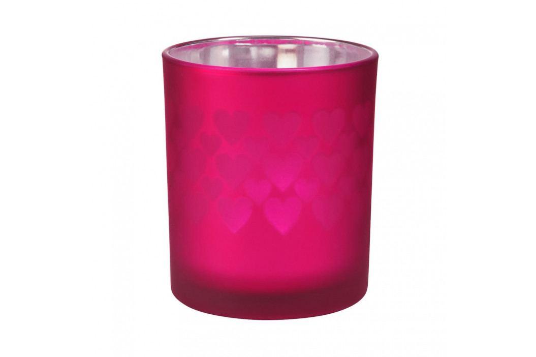 DELIGHT Svícen na čajovou svíčku srdce velký - malinová