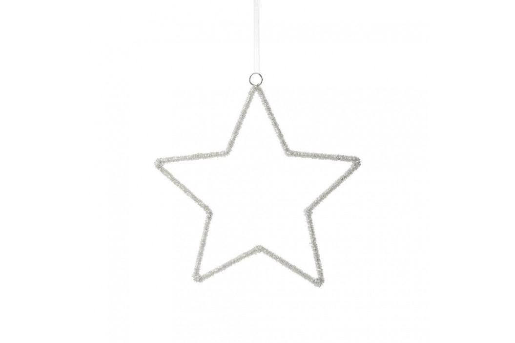 X-MAS Hvězda dekorační 26 cm