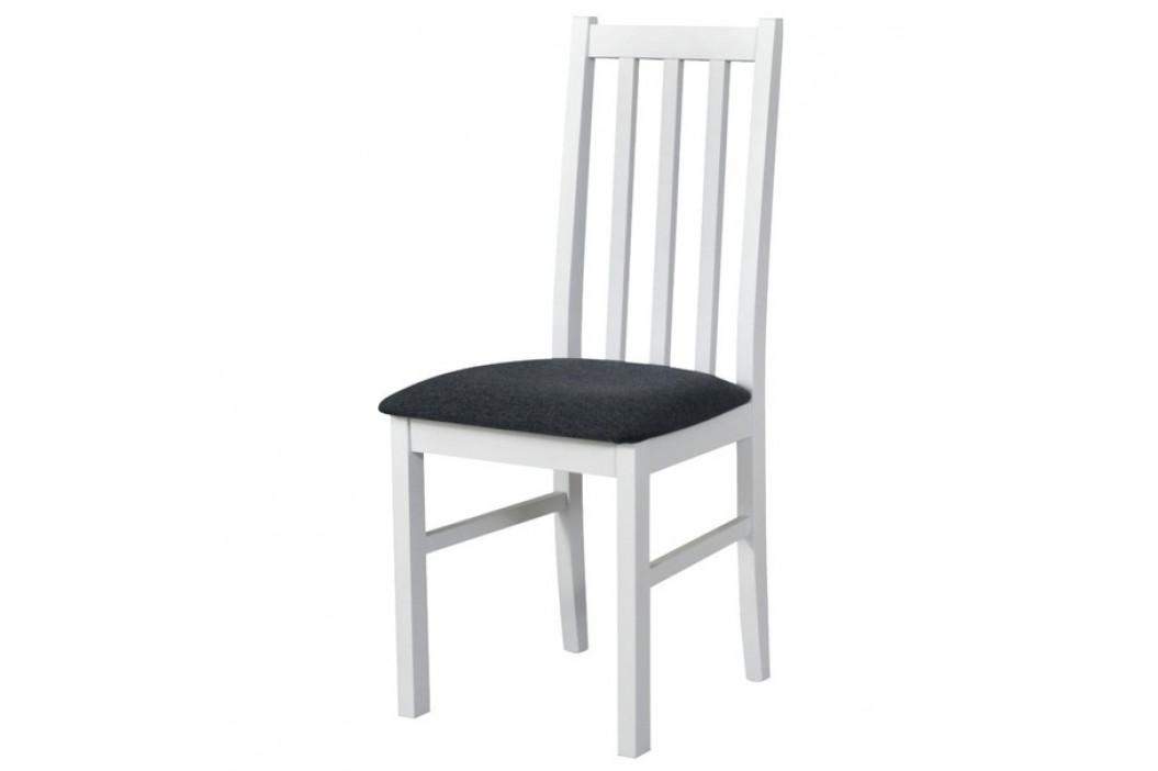 Sconto Jídelní židle BOLS 10 tmavě šedá/bílá