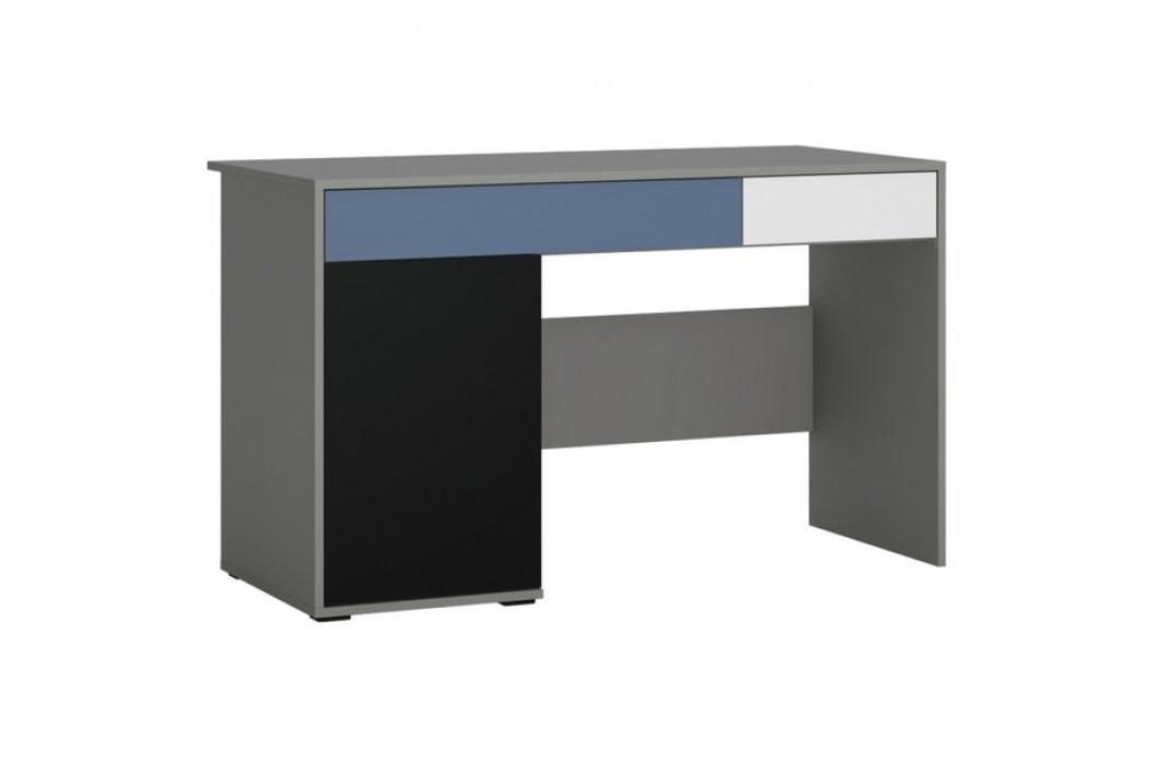 Sconto Psací stůl LASER modrá/šedá