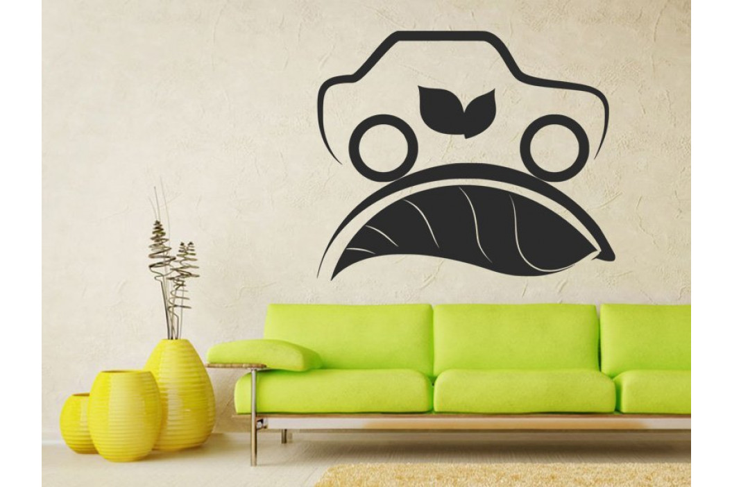 Samolepka na zeď Auto Eco Elektromobil 0901