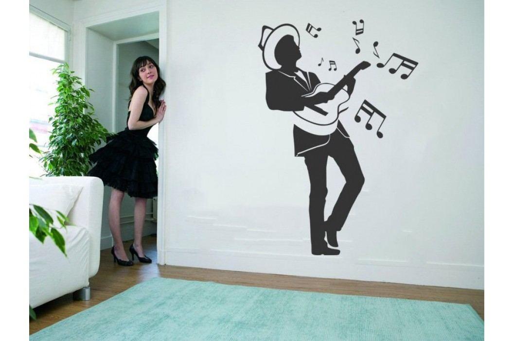 Samolepka na zeď Kytarista 002 obrázek inspirace