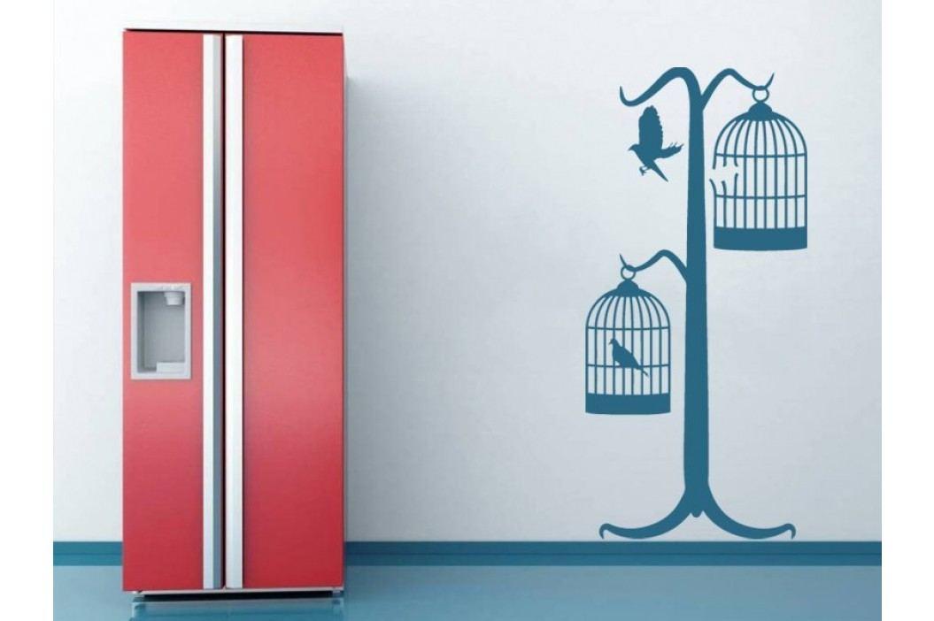 Samolepka na zeď Ptáci v kleci 001