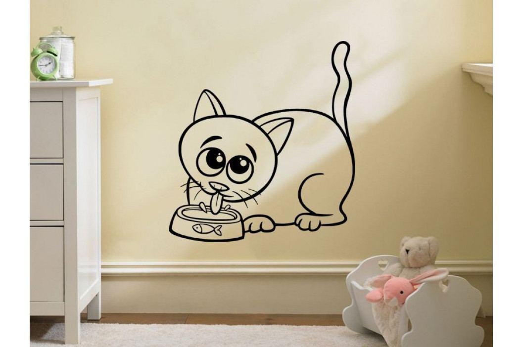 Samolepka na zeď Kočička 0524