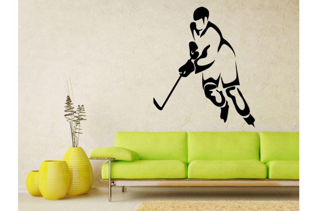 Samolepka na zeď Hokejista 0594