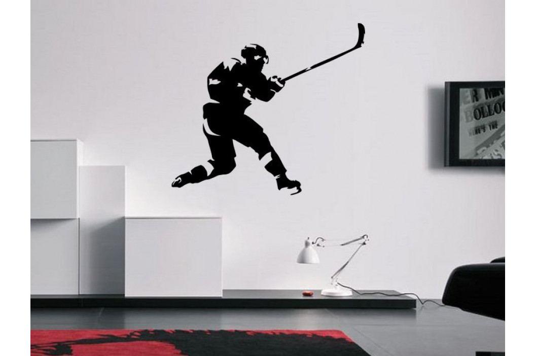 Samolepka na zeď Hokejista 0602