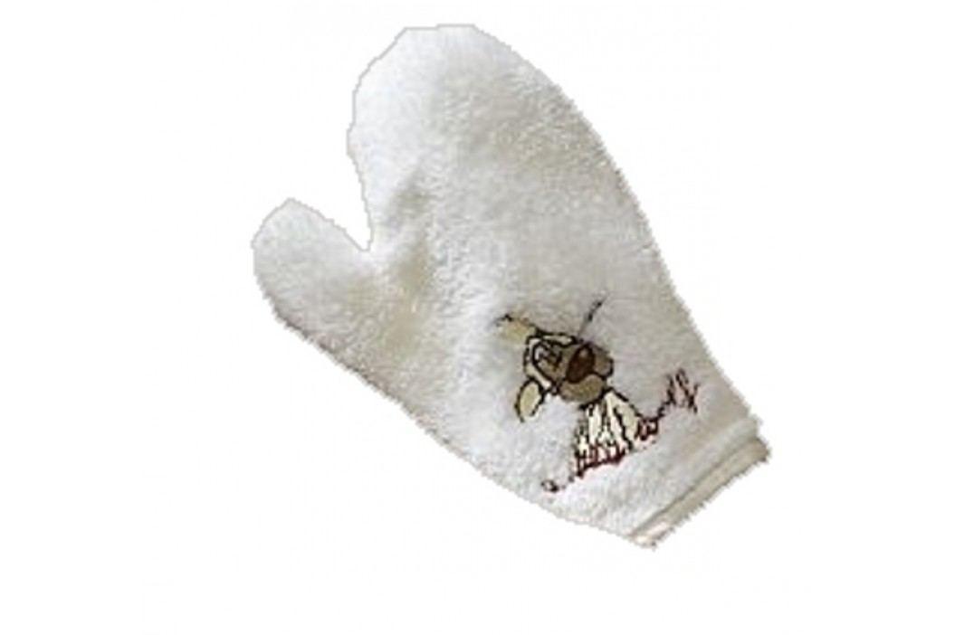 NICI - Žínka-rukavice Jolly Wolf přírodní, mikrofáze  - (1421p)