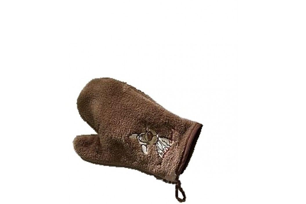 NICI - Žínka-rukavice Jolly Wolf  hnědá, mikrofáze - (1421h)