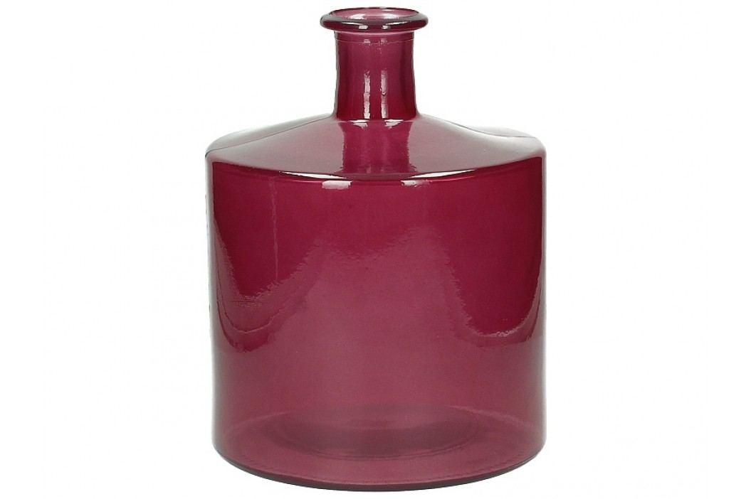 KERSTEN - Váza z recyklovaného skla, růžová  21x21x26cm - (LEV-9340)