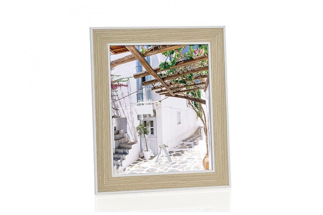 Fotorámeček dřevěný, bílý 10x15cm - (AX66093)