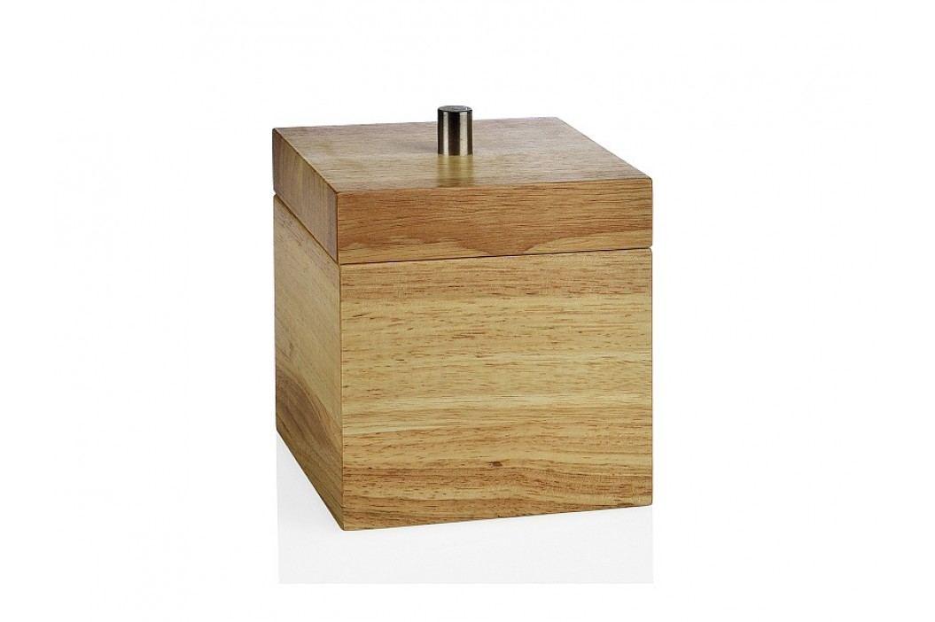 Zásobník na gumičky, dřevo, přírodní, 14x14x16,5cm - (BA17004)
