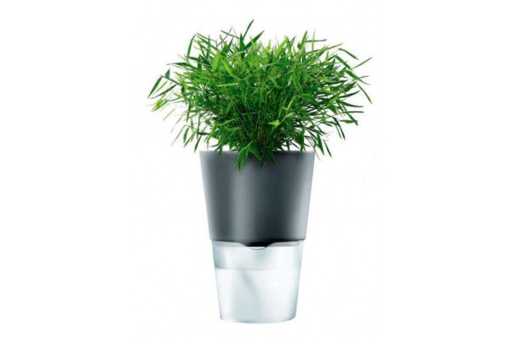 Eva Solo Samozavlažovací květináč 13 cm, tmavě šedý