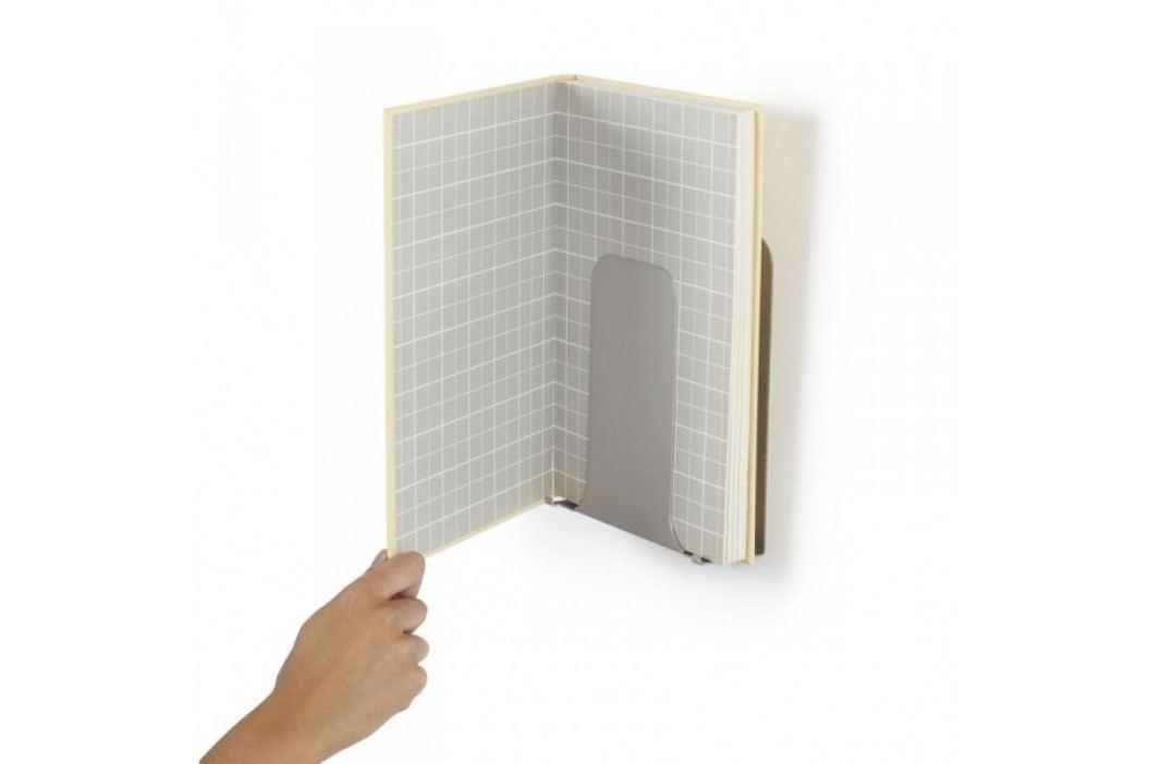 Polička na knihu Umbra Conceal Vertical - stříbrná