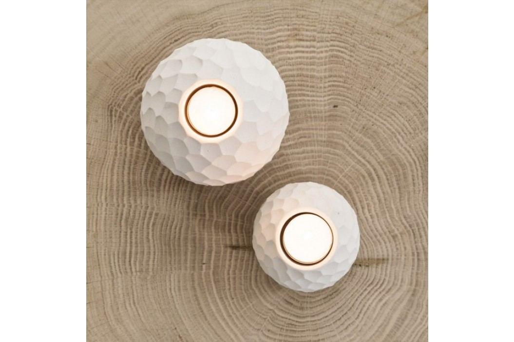 Svícen na čajovou svíčku CARVE ASA Selection béžový, 7,6 cm