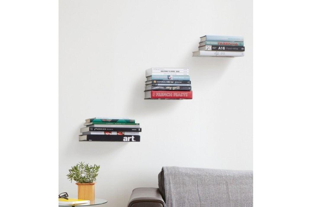 Poličky na knihy set 3 ks Umbra Conceal Shelf malé - stříbrné