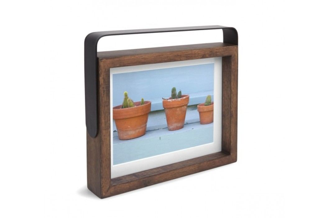 Otáčecí rámeček na fotografii 13x18 cm Umbra AXIS - ořechový