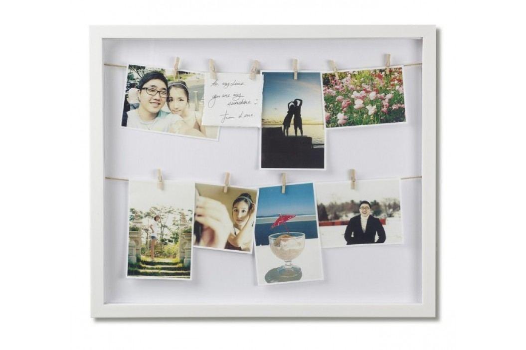 Rámeček na fotografie Umbra CLOTHESLINE - bílý