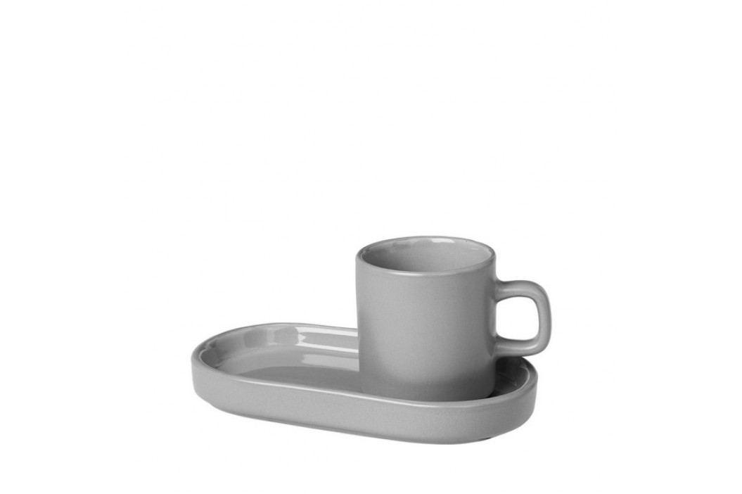 Hrníček na espresso s táckem 50 ml Blomus MIU - šedozelený